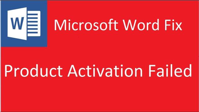 hướng dẫn sửa lỗi microsoft word (product activation failed)