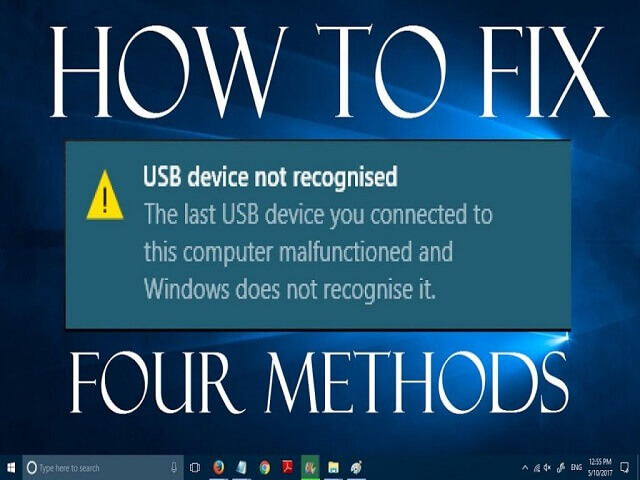 lỗi the last usb device you connected to this computer malfunctioned