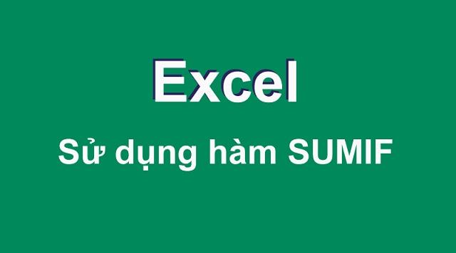 Hàm Sum là một trong những hàm cơ bản trong excel